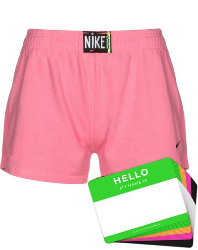 Nike Wash Shorts + HELLO Neon-Stickerpack | Pink Pack