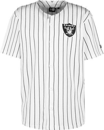 Raiders Pinstripe Baseball Jersey