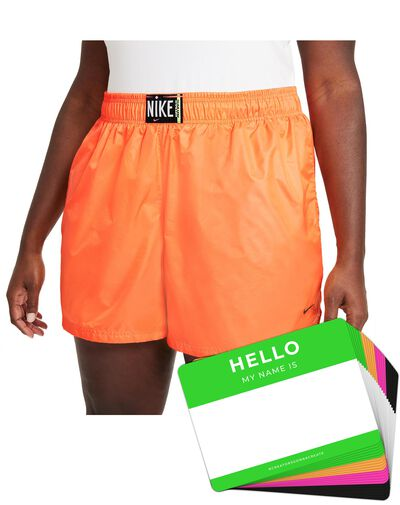 Nike Wash Shorts Woven + HELLO Neon-Stickerpack | Orange Pack