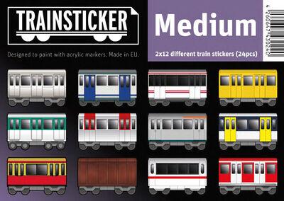 Trainsticker Set M (A6) 24 pcs