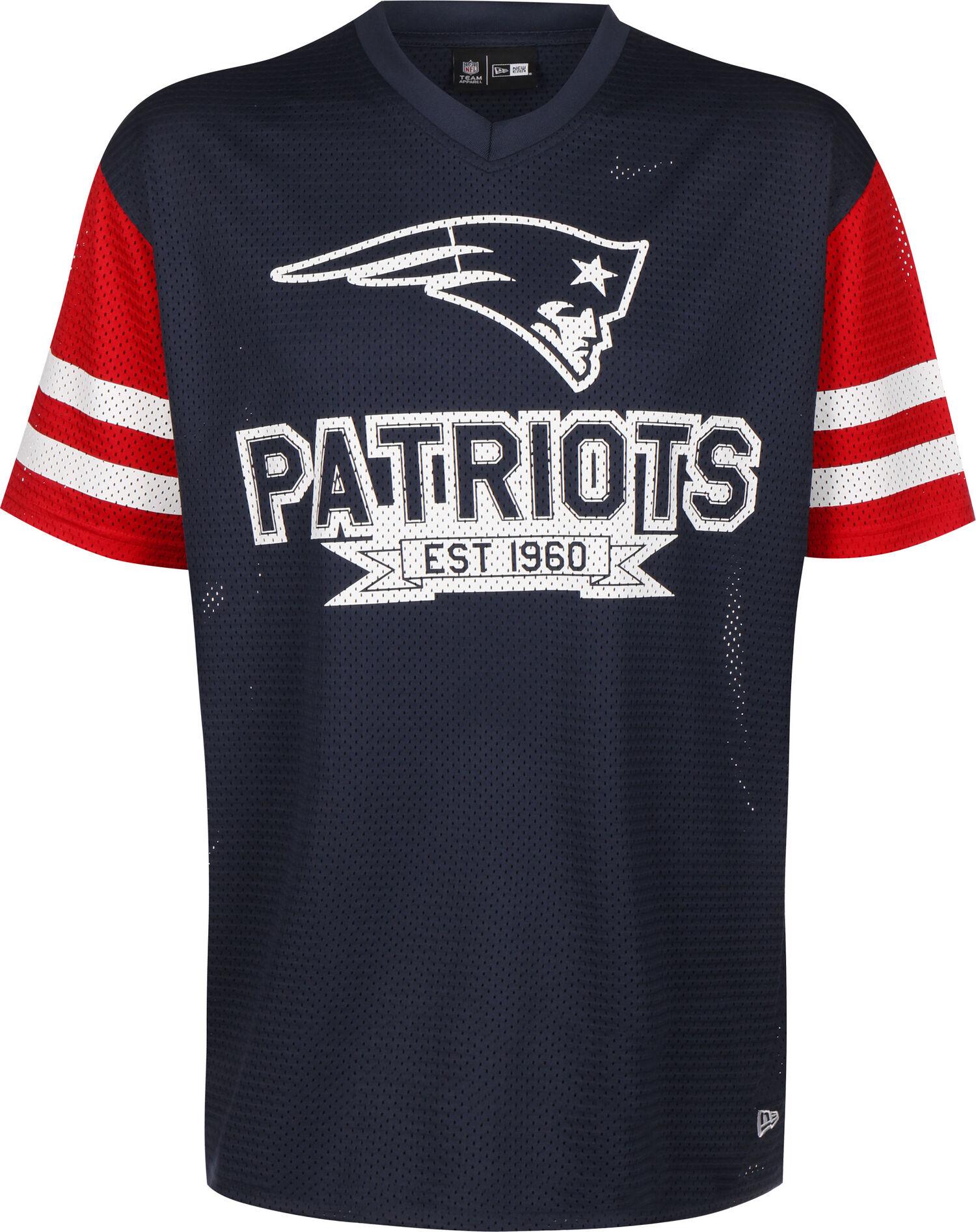 NFL Contrast Sleeve Oversized New England Patriots