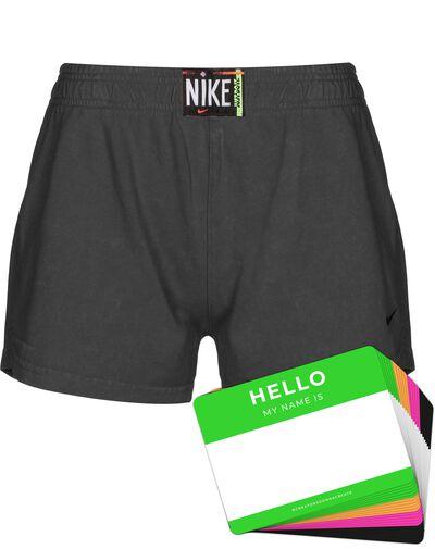 Nike Wash Shorts + HELLO Neon-Stickerpack | Black Pack