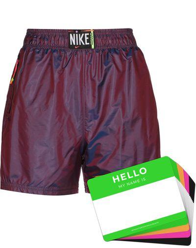 Nike Wash Shorts Woven + HELLO Neon-Stickerpack | Fuchsia Pack