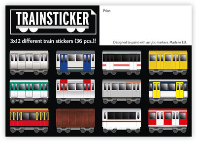 Trainsticker Set XL (A4) 36 pcs