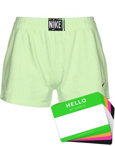 Nike Wash Shorts + HELLO Neon-Stickerpack | Green Pack