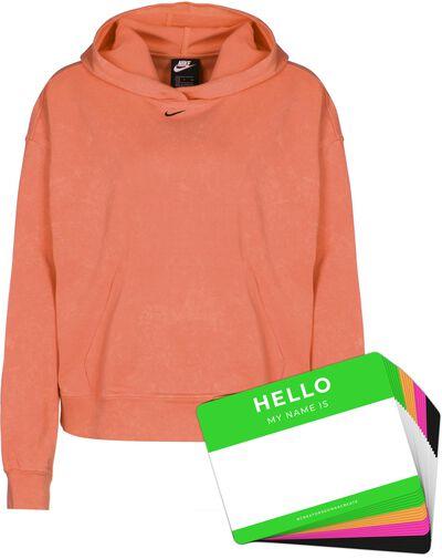 Nike Wash Hoodie + HELLO Neon-Stickerpack   Orange Pack